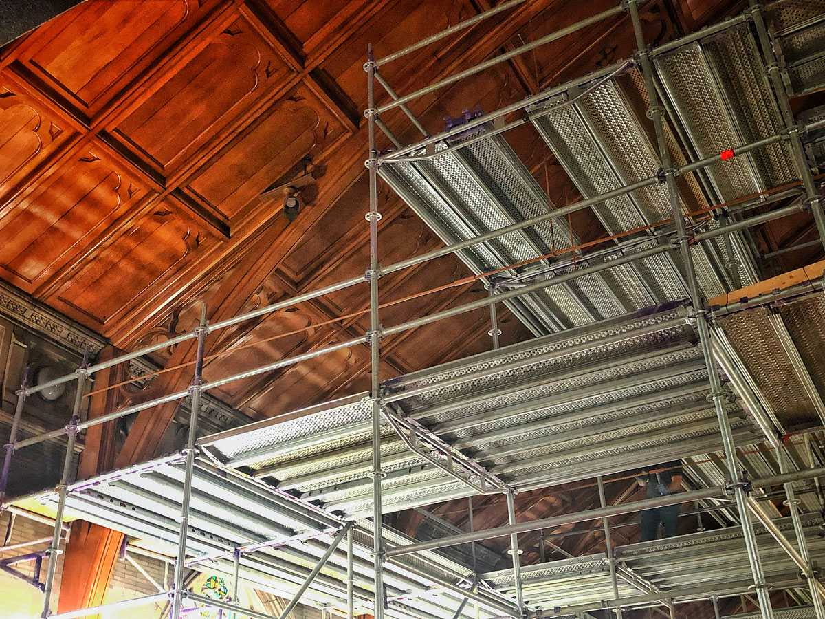 Historic Church Renovation Steel Support by Raser Steel | Reading, PA